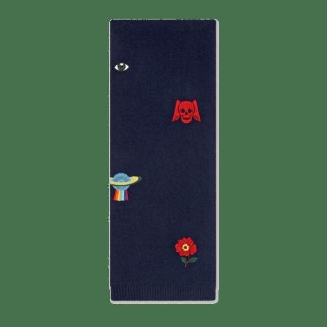 刺绣标志羊毛围巾