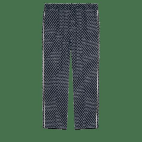 G边框图案针织慢跑长裤