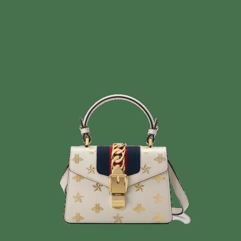 Sylvie系列蜜蜂星星皮革迷你手袋