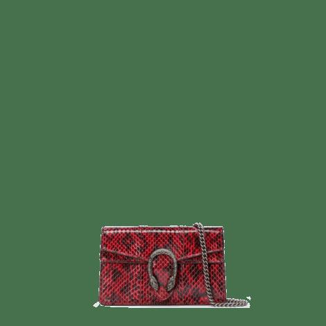 Dionysus系列蛇皮超迷你手袋