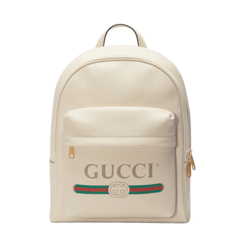Gucci印花皮革背包