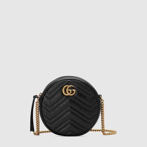 GG Marmont系列圆形迷你肩背包