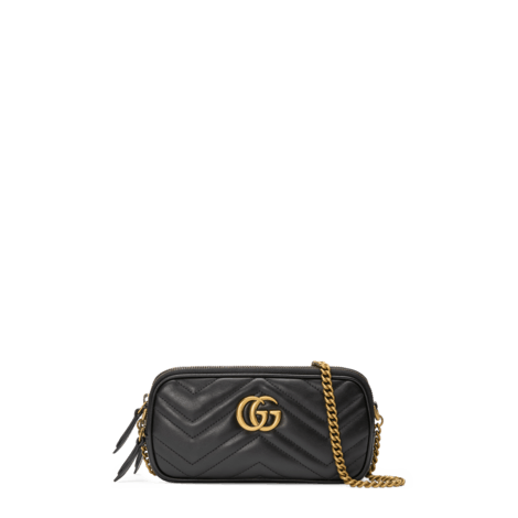 GG Marmont系列迷你金属链手袋