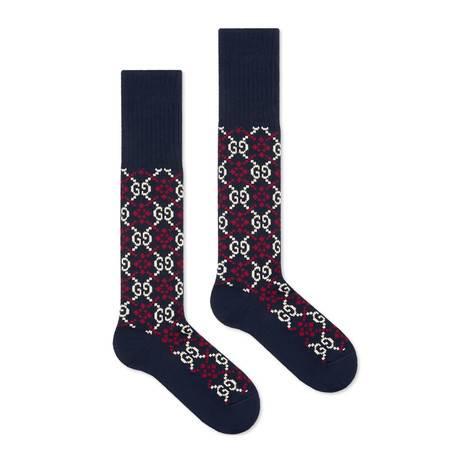 GG菱形棉袜