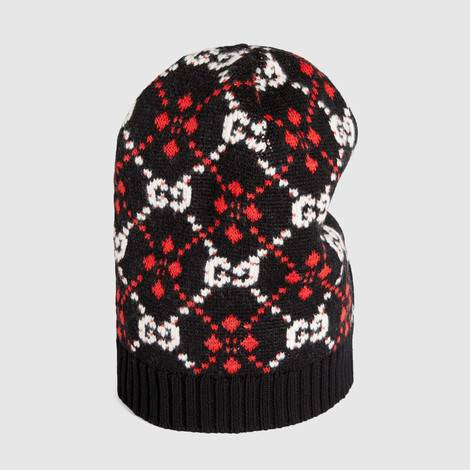 GG菱形图案帽子