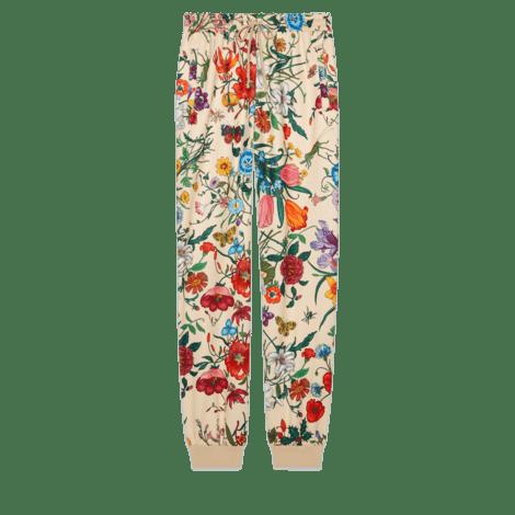 花卉印花慢跑长裤