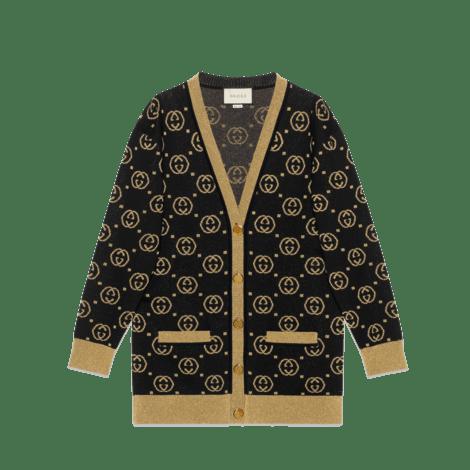 GG图案羊毛开衫