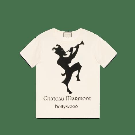 饰Chateau Marmont印花超大造型T恤