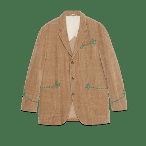 刺绣天鹅绒夹克