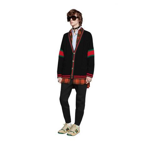 超大造型绞花编织开衫