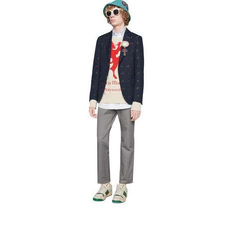 斜纹棉布长裤