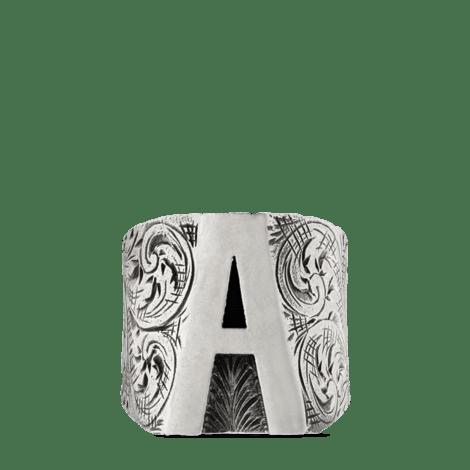 """字母""""A""""造型纯银戒指"""