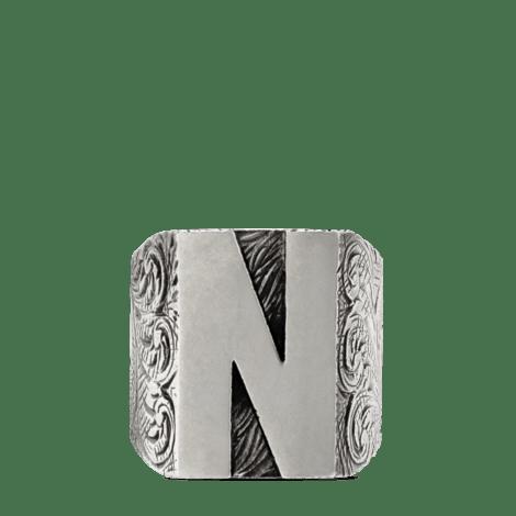 """字母""""N""""造型纯银戒指"""