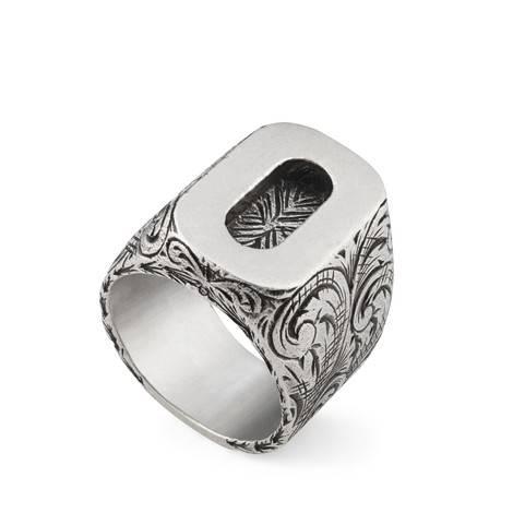 """字母""""O""""造型纯银戒指"""