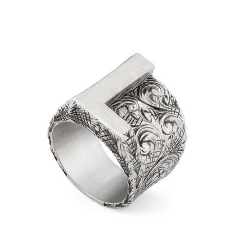 """字母""""L""""造型纯银戒指"""
