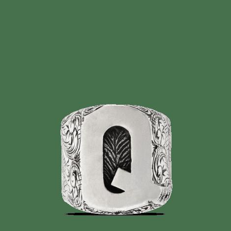 """字母""""Q""""造型纯银戒指"""
