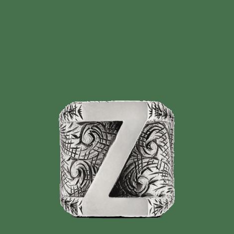 """字母""""Z""""造型纯银戒指"""