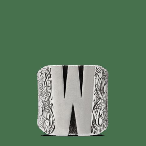 """字母""""W""""造型纯银戒指"""