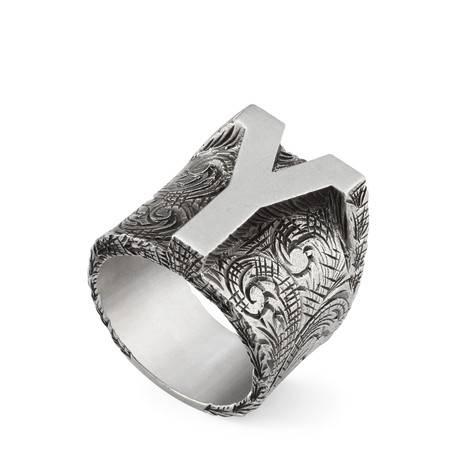 """字母""""Y""""造型纯银戒指"""