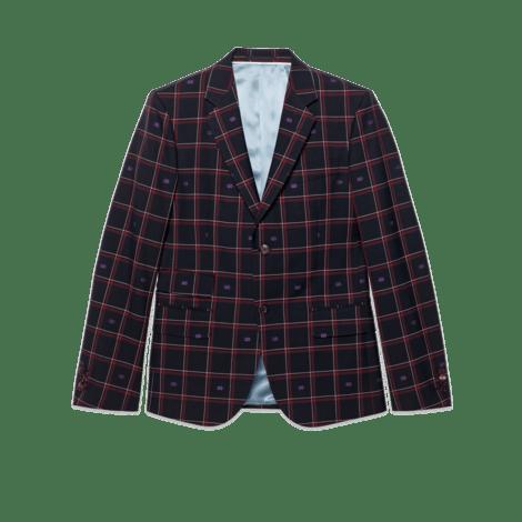 GG格纹羊毛剑桥夹克