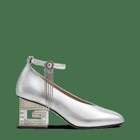 水晶G鞋跟中跟浅口鞋