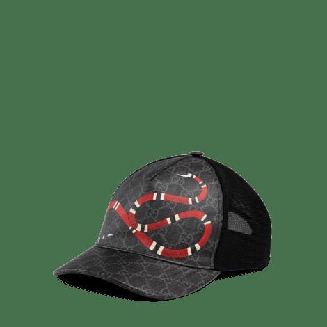 珊瑚蛇印花高级人造帆布棒球帽