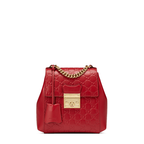 Padlock系列Gucci Signature皮革背包