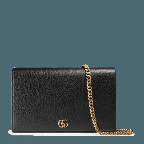 GG Marmont系列皮革迷你链条手袋