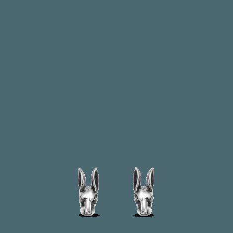 Anger Forest系列兔头纯银耳环