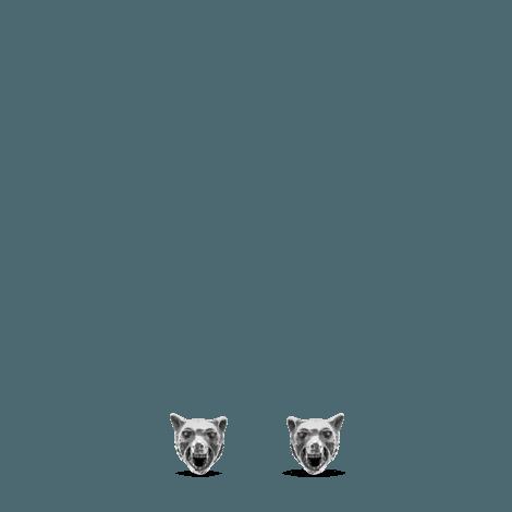 Anger Forest系列狼头纯银耳环