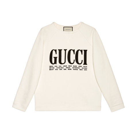 Gucci城市印花超大造型卫衣