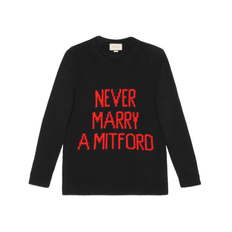 """Never Marry a Mitford""毛衣"