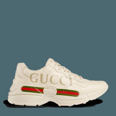 Rhyton系列Gucci标识皮革运动鞋