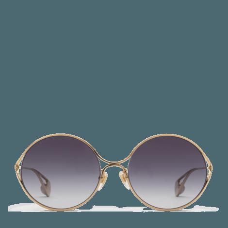 圆形镜框太阳眼镜