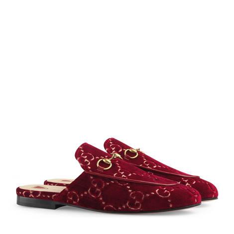 Princetown系列GG天鹅绒拖鞋