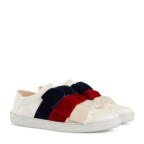 Ace系列天鹅绒蝴蝶结运动鞋