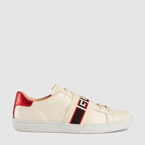 Ace系列女士Gucci条纹运动鞋