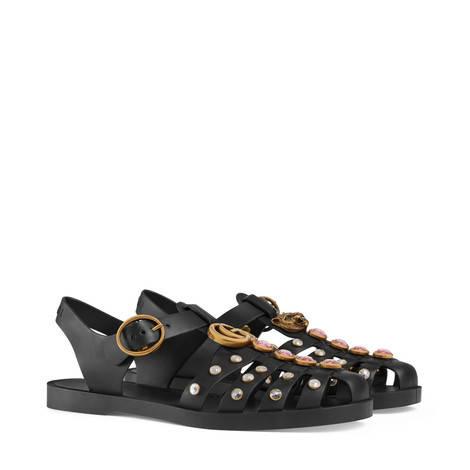水晶橡胶凉鞋