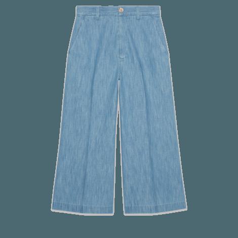 刺绣牛仔裙裤