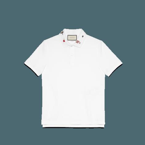 刺绣棉质polo衫
