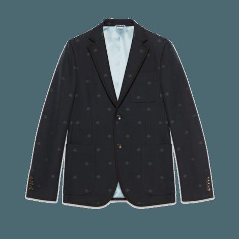 Monaco饰蜜蜂条纹夹克