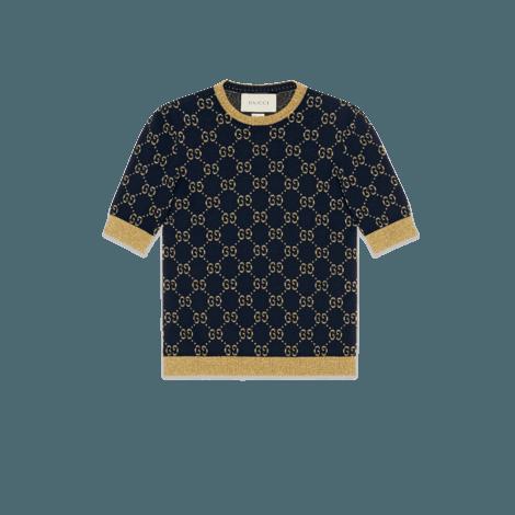 GG棉质金银丝线上衣