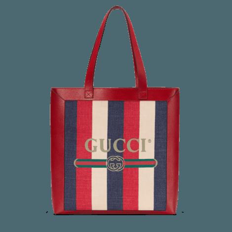 Gucci印花中号购物袋