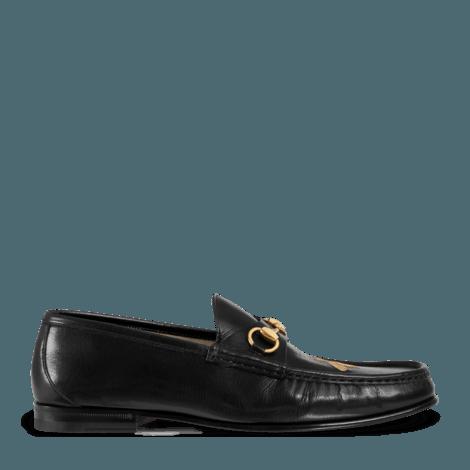 蜜蜂皮革乐福鞋