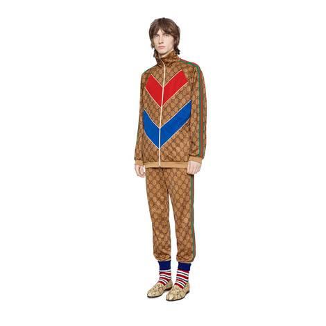 GG平纹针织慢跑长裤