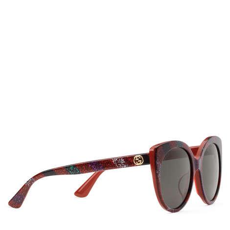 贴合设计闪亮猫眼镜框太阳眼镜