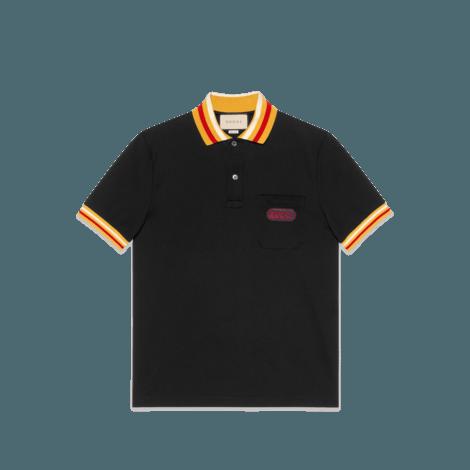 Gucci贴饰polo衫