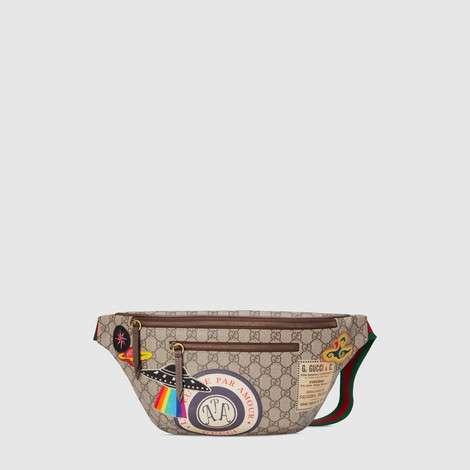 Gucci Courrier系列高级人造帆布腰包