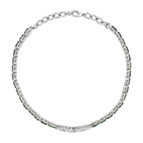 水晶条纹织带颈圈