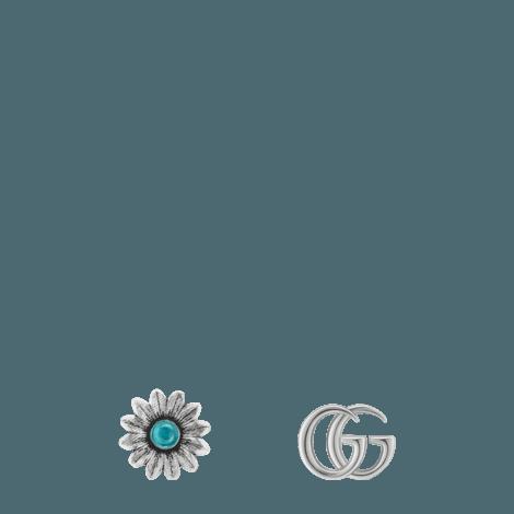 双G花朵铆钉耳环
